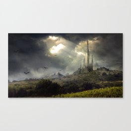 Sunset Castle Canvas Print