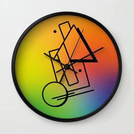 Abstract 80's Memphis Style Wall Clock