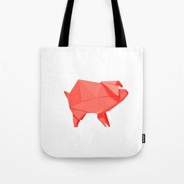 Origami Pig Tote Bag