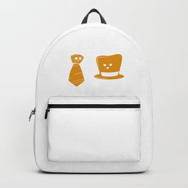 You Hang Around I'll Go On Ahead Funny Neck Tie And Hat Clothes Puns Gift Backpack