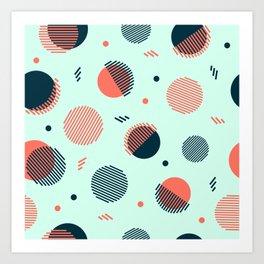 Mint Orbs Art Print