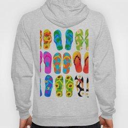 Sandals Colorful Fun Beach Theme Summer Hoody