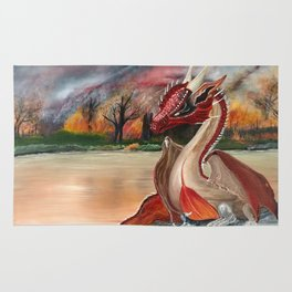 """Draco"" The Red Dragon (Law maker) Rug"