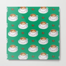 Coffee cups - green Metal Print