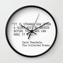 SaraTeasdale, The Collected Poems Wall Clock