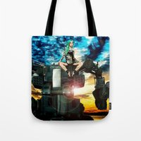 heavy metal Tote Bags featuring Heavy Metal by Danielle Tanimura