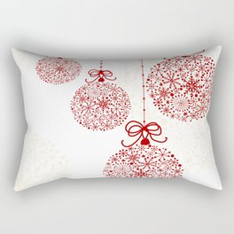 Christmas Baubles Made Of Snowflakes Rectangular Pillow