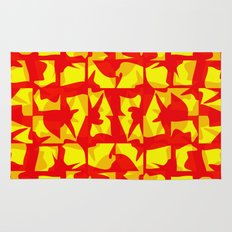 red shapes Rug