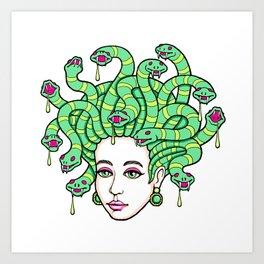 Medusa Anime Art Print