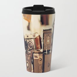 Old Cameras (Vintage and Retro Film Cameras Collection) Travel Mug