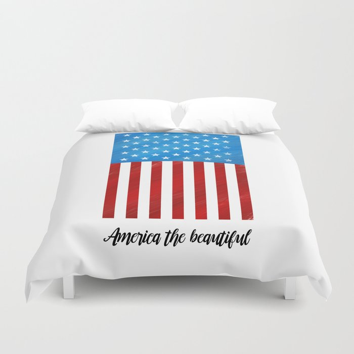 America the Beautiful Duvet Cover