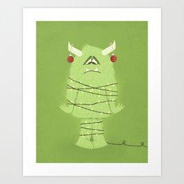 Holiday Monster Art Print