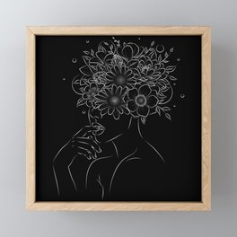 Thinking and blooming in Black Framed Mini Art Print