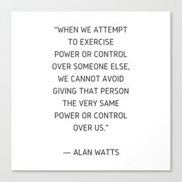 Alan Watts Inspiration Quote Canvas Print