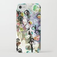 circles iPhone & iPod Cases featuring Circles by Tina Carroll