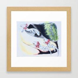 Great crystal river Framed Art Print
