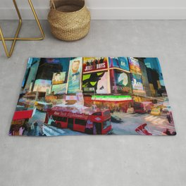 Times Square II (pastel paint style) Rug