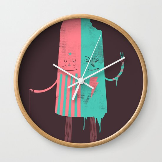 Non-Identical Twins Wall Clock