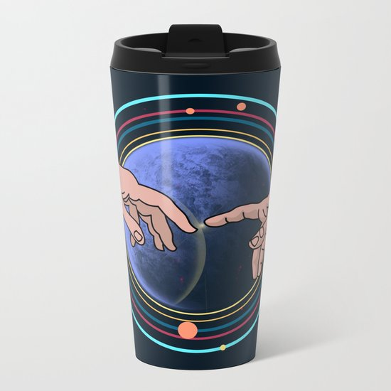 Michelangelo space blue Metal Travel Mug