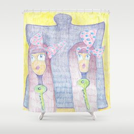 Arabian twins Shower Curtain