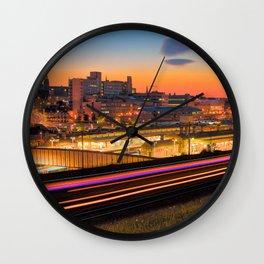 Sheffield at Night Wall Clock