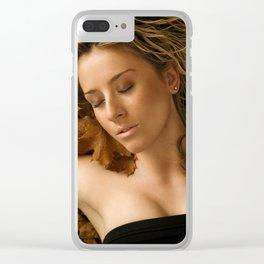Autumn Beauty Clear iPhone Case