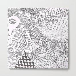Hair Doodle Metal Print