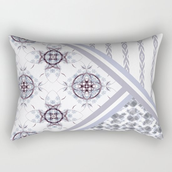 Patchwork. Abstract pattern. Rectangular Pillow