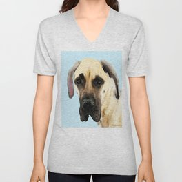 Great Dane Art - Dog Painting by Sharon Cummings Unisex V-Neck