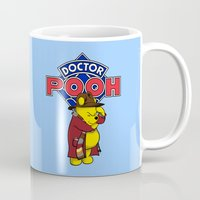 pooh Mugs featuring Doctor Pooh by cû3ik designs