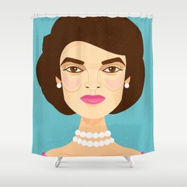 Jackie Onassis Shower Curtain