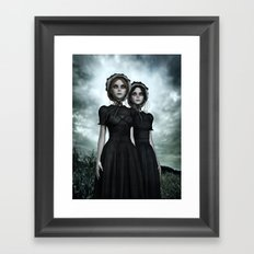 Deadly Halloween Twins – They are coming Framed Art Print