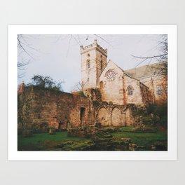 Culross Abbey II Art Print