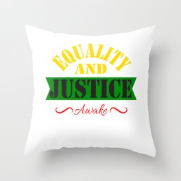 Equality and Justice tee design made specially for for justice lovers like you!  Throw Pillow