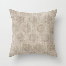 Poka dot burlap (Hessian series 2 of 3) Throw Pillow