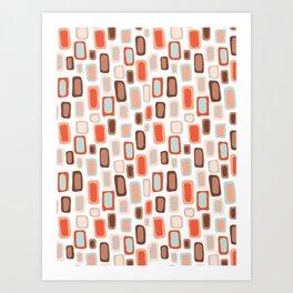 Retro Rectangles Art Print