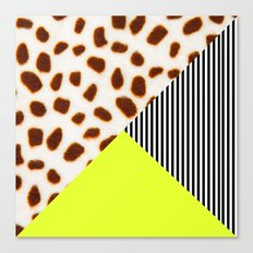 Cheetah Leo stripe and neon Canvas Print