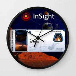 Mars InSight Ticket Wall Clock