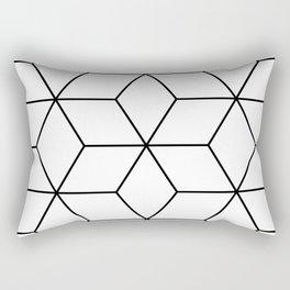 Geometric Cubes Black & White Rectangular Pillow