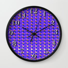 Modius Loop Blue/Lavender on Gold Wall Clock