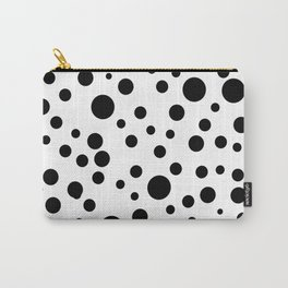 Geometric print black and white circles minimalist print Carry-All Pouch