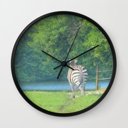 Zebra Dreams Wall Clock