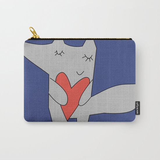 Fox in love blue Carry-All Pouch
