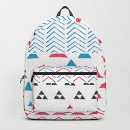 Watercolor hand painted pink blue black tribal geometrical Backpack