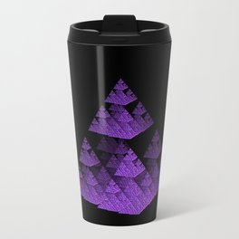 3D Fractal Pyramid Travel Mug