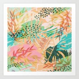 Tropical Mixup Art Print