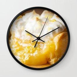 Lemon Meringue Tart Wall Clock