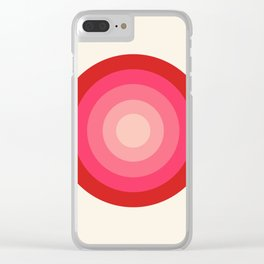 Keepin' on - 70's style retro vibes throwback minimal 1970s art decor gifts Clear iPhone Case