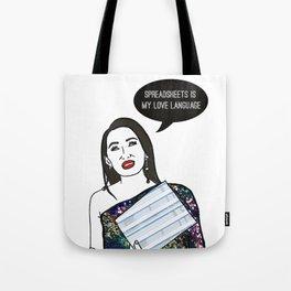 Spreadsheet Love Tote Bag