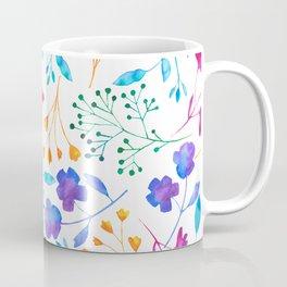 Bold & Colourful Fluro Floral Pattern Coffee Mug